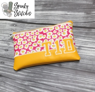 Zipper Bag in the hoop Embroidery file By Spunky stitches