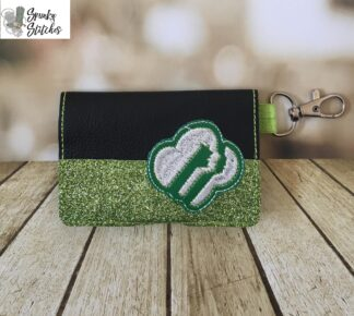 Girl Scout Mini Wallet in the hoop embroidery file by spunky stitches