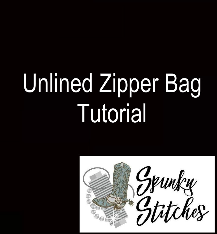 Video Tutorial for how to make a unLined Zipper Bag in the hoop embroidery file by spunky stitches!