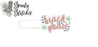 beach please key fobin the hoop embroidery design by spunky stitches