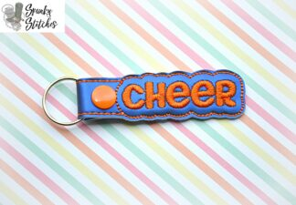 cheer key fob in the hoop embroidery file by spunkystitches