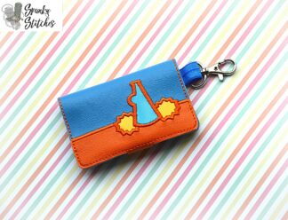 cheer mini wallet key fob in the hoop embroidery file by spunkystitches