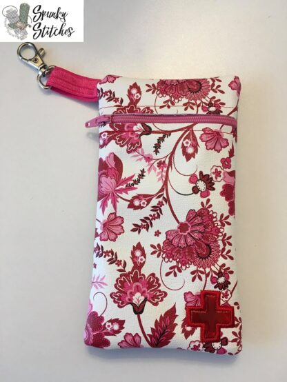epipen zipper bag in the hoop embroidery file by spunkystitches