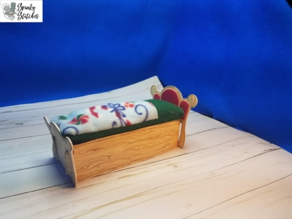 elf bed in the hoop embroidery file by spunkystitches
