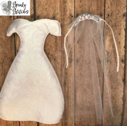 elf wedding dress in the hoop embroidery file by spunkystitches