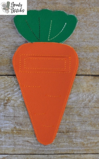 carrot silverware holder in the hoop embroidery file by spunky stitches