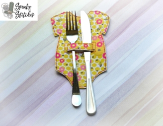 baby silverware holder in the hoop embroidery file by spunky stitches