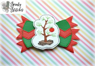 Charlie Brown Bow in the hoop embroidery file by spunky stitches