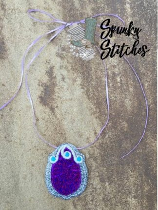 sofia amulet in the hoop embroidery file by spunky stitches