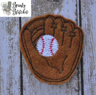 baseball for elf in the hoop embroidery file by spunky stitches