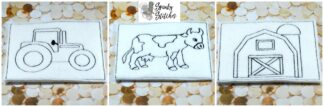 Color Me Farm set in the hoop embroidery file by spunky stitches