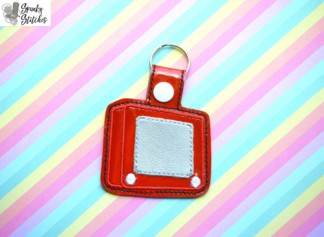 Etch a sketch Key Fob in the hoop embroidery file by Spunky stitches