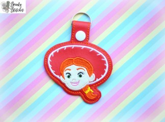 Jessie Key Fob in the hoop embroidery file by Spunky stitches