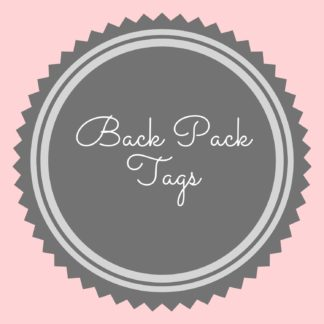 Back Pack Tags